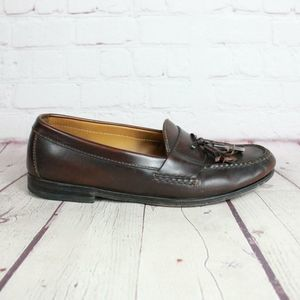 Cole Haan Leather Tassel Fringe Loafers